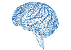 Cervello con il modello geometrico, vettore Immagini Stock
