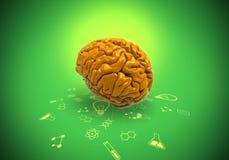 Cervello creativo ed idea astuta con il percorso di ritaglio Fotografia Stock