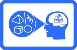 Cervello dell'uomo di concetto di progetto illustrazione di stock