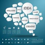 Cervello di conversazione della bolla con l'icona di affari illustrazione vettoriale