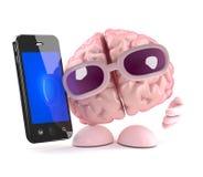 cervello di 3d Smartphone Fotografie Stock