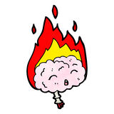 cervello di emicrania del fumetto royalty illustrazione gratis