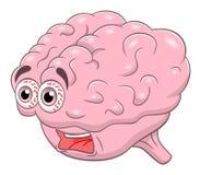 Cervello di grido del fumetto Immagine Stock