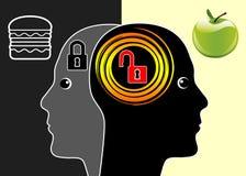 Cervello o alimenti industriali royalty illustrazione gratis