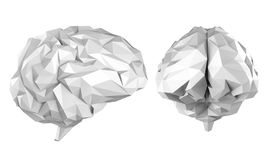 Cervello poligonale grigio royalty illustrazione gratis