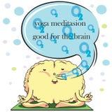 Cervello sulla meditazione Fotografie Stock Libere da Diritti