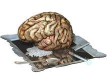 Cervello sulle droghe illustrazione di stock