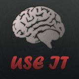 Cervello, timbrato in metallo lucidato Fotografia Stock