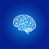 Cervello umano astratto Fotografie Stock