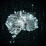 Cervello umano sotto forma di circuiti Fotografia Stock Libera da Diritti