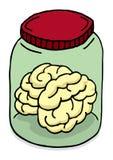Cervello in un barattolo Fotografia Stock Libera da Diritti