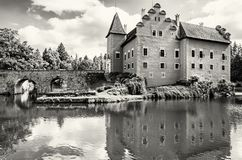 Cervena Lhota是在捷克共和国的一个美丽的大别墅 库存照片
