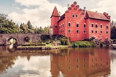 Cervena Lhota是在捷克共和国的一个美丽的大别墅 免版税库存图片
