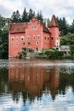 Cervena Lhota是在捷克共和国,它的一个美丽的大别墅立场 库存照片