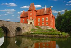 Cervena Lhota. The red water chateau in the the Czech republic - Cervena Lhota stock images