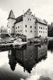 Cervena Lhota is a beautiful chateau in Czech republic, black an Stock Photography