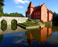 Cervena Lhota castle. Czech Republic stock photo