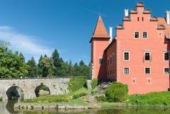 Cervena Lhota Castle, Bohemia, Czech Republic. Cervena Lhota, picturesque architecture, Czech repulic Royalty Free Stock Photos