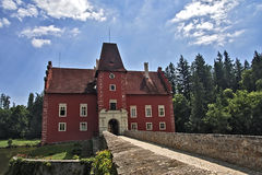 Cervena Lhota castle. In Czech Republic. Front view stock image