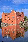 Cervena Lhota. Czech Republic. Castle on the lake.  stock photography