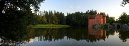 Cervena Lhota kasztelu panorama Zdjęcie Royalty Free
