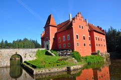 The Cervena Lhota – red castle in south bohemia, Czech republic royalty free stock photography