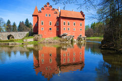 Cervena Lhota slott, tjeckisk republik arkivbilder