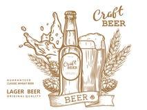 Cerveza comp2 del arte Foto de archivo libre de regalías