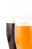 Cerveza con bocado Imagen de archivo