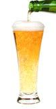 Cerveza con la botella Fotografía de archivo