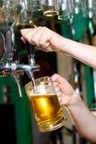 Cerveza de barril Imágenes de archivo libres de regalías