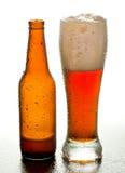Cerveza de Brown Imagen de archivo libre de regalías