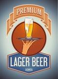 Cerveza de cerveza dorada superior Imágenes de archivo libres de regalías