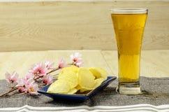 Cerveza de cristal Imagenes de archivo