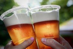 Cerveza de cerveza dorada Imágenes de archivo libres de regalías