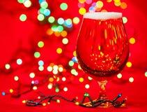 Cerveza de la Navidad Imagenes de archivo
