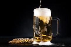 Cerveza de la taza foto de archivo libre de regalías