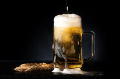 Cerveza de la taza imagen de archivo libre de regalías