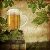 Cerveza de la vendimia ilustración del vector