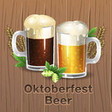 Cerveza de Oktoberfest Fotos de archivo libres de regalías