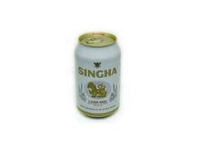 Cerveza de Singha Imágenes de archivo libres de regalías