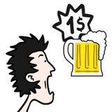 Cerveza del precio Imagen de archivo
