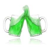 Cerveza del verde del día del St. Patrick Imágenes de archivo libres de regalías
