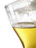 Cerveza dentro del primer de la taza imagen de archivo