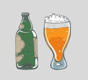 Cerveza - ejemplo del vector Imagenes de archivo