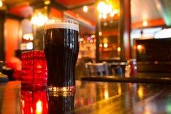 Cerveza en el Pub Imagen de archivo libre de regalías