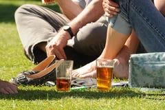 Cerveza en el sol Fotografía de archivo libre de regalías