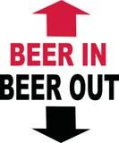 Cerveza en cerveza hacia fuera libre illustration