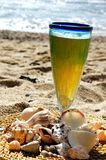 Cerveza en la playa Fotos de archivo libres de regalías
