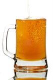 Cerveza en vidrio Fotografía de archivo